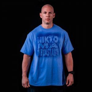 Tričko makač modrej farby